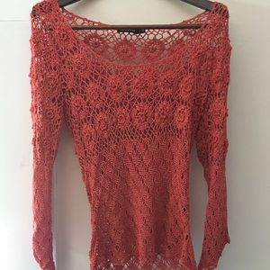 Light weight crochet looking top by The Limited